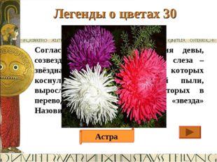 Легенды о цветах 30 Ответ Согласно легенде, из созвездия девы, созвездия Афро