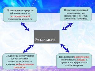 Реализация педагогической идеи. Использование разнообразных педагогических м