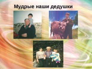 Мудрые наши дедушки