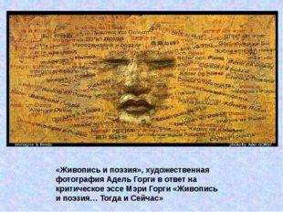 «Живопись и поэзия», художественная фотография Адель Горги в ответ на критиче