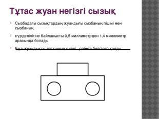 Тұтас жуан негізгі сызық Сызбадағы сызықтардың жуандығы сызбаның пішімі мен с