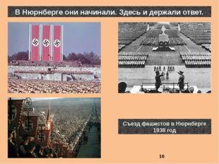 В Нюрнберге они начинали. Здесь и держали ответ. Съезд фашистов в Нюрнберге 1