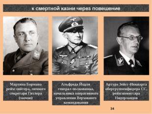 к смертной казни через повешение Артура Зейсс-Инкварта обергруппенфюрера СС,