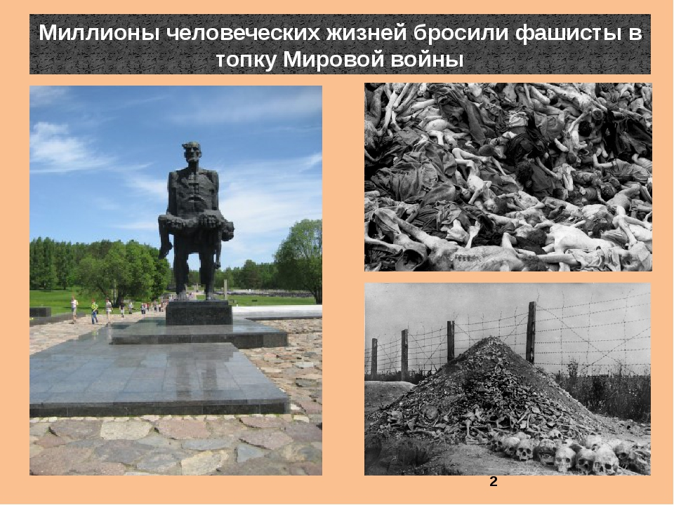Миллионы человеческих жизней бросили фашисты в топку Мировой войны