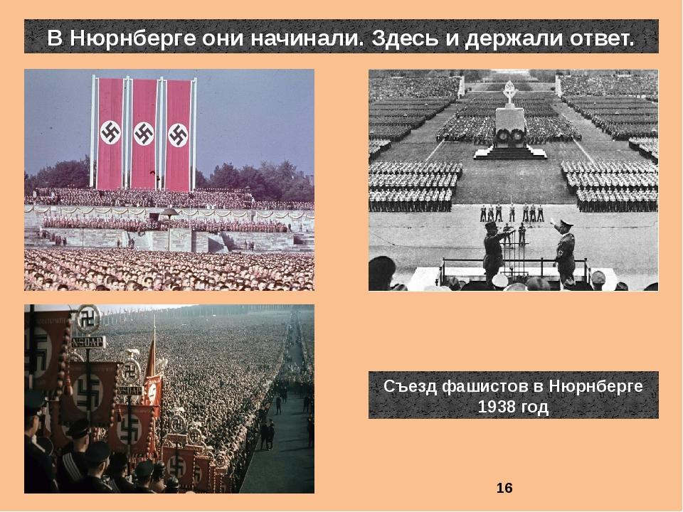 В Нюрнберге они начинали. Здесь и держали ответ. Съезд фашистов в Нюрнберге 1...