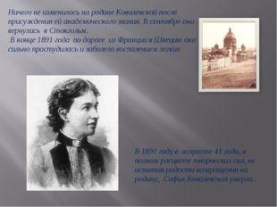 Ничего не изменилось на родине Ковалевской после присуждения ей академическог