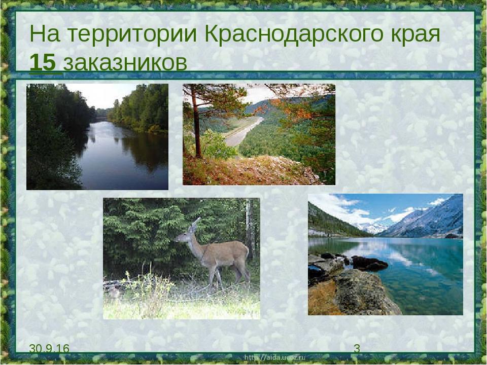 На территории Краснодарского края 15 заказников