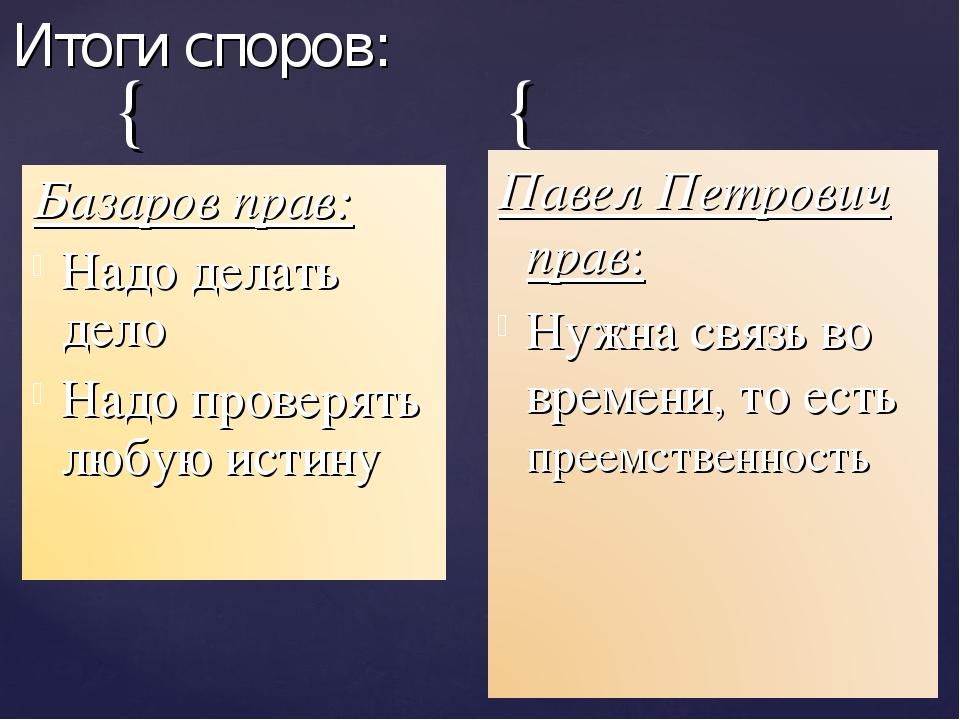 Итоги споров: { {