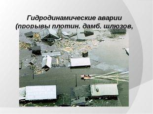 Гидродинамические аварии (прорывы плотин, дамб, шлюзов, перемычек)
