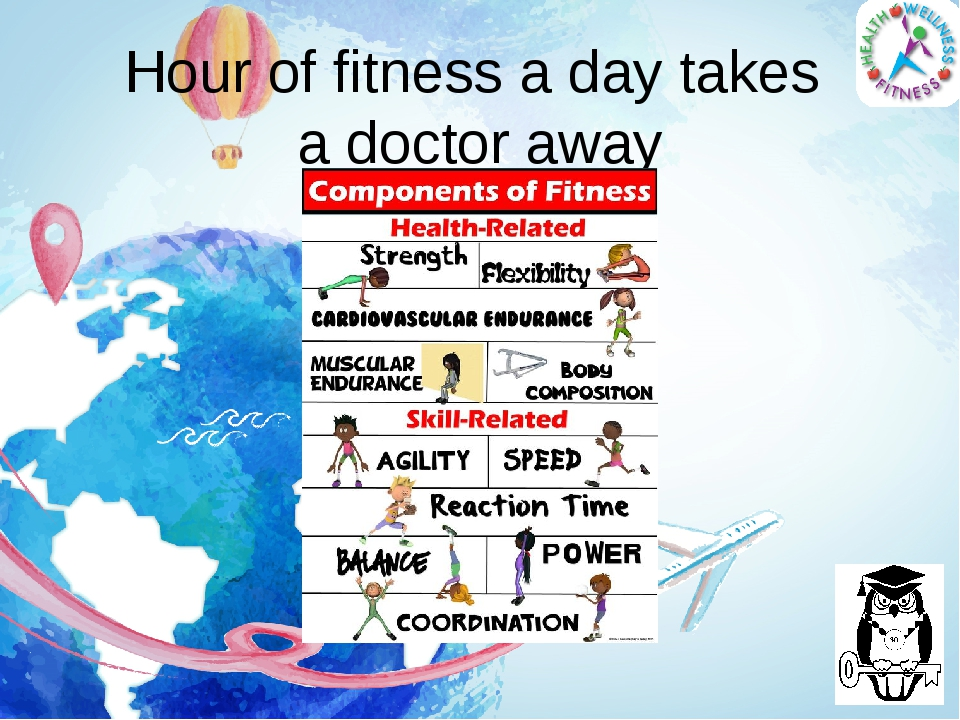 Hour of fitness a day takes a doctor away