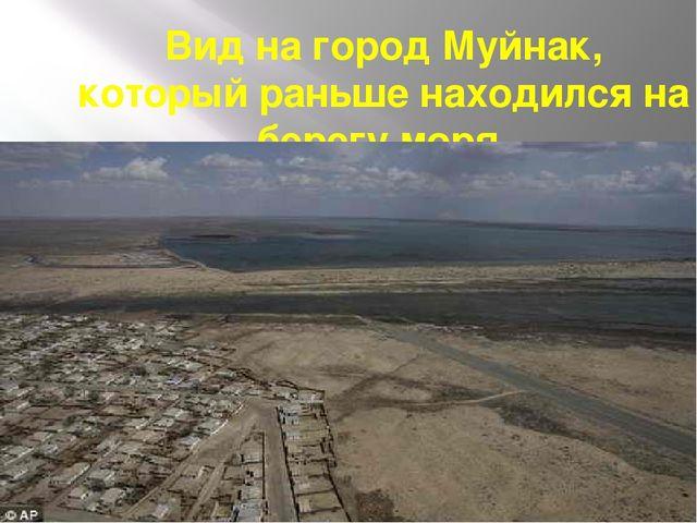 Вид на город Муйнак, который раньше находился на берегу моря.