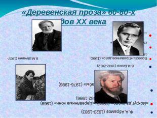 «Деревенская проза» 60-80-х годов XX века В.И.Белов (1932-2012) Повесть «Прив