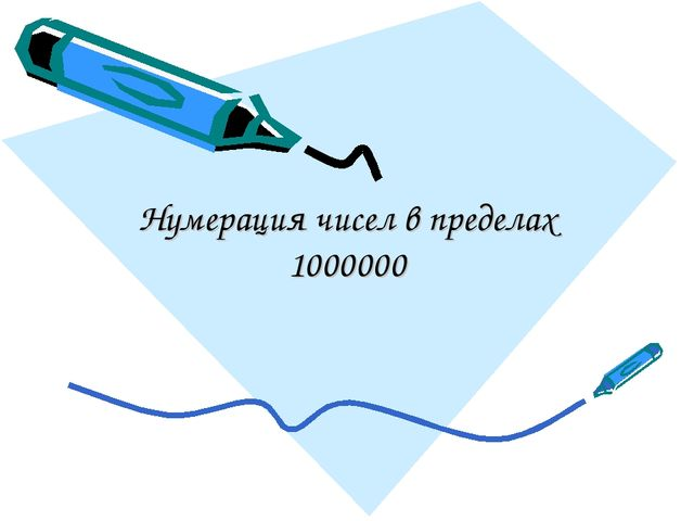 Нумерация чисел в пределах 1000000