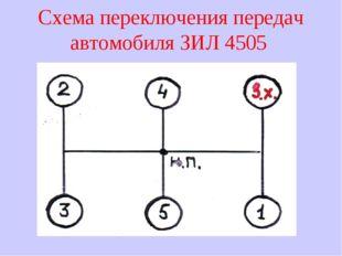 Схема переключения передач автомобиля ЗИЛ 4505