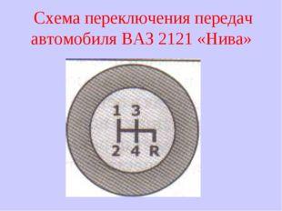 Схема переключения передач автомобиля ВАЗ 2121 «Нива»