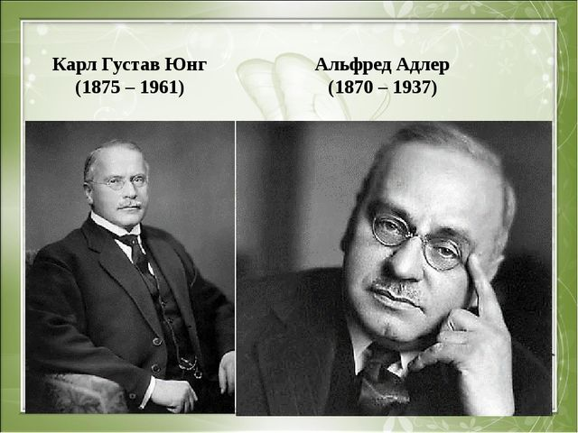Карл Густав Юнг (1875 – 1961) Альфред Адлер (1870 – 1937)