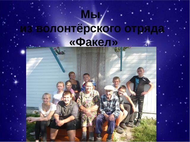 Мы из волонтёрского отряда «Факел»