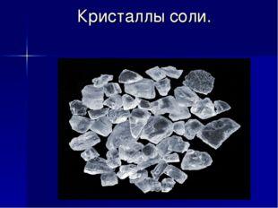 Кристаллы соли.