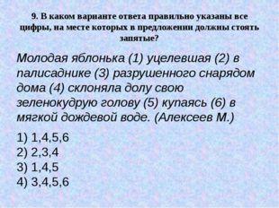 9.В каком варианте ответа правильно указаны все цифры, на месте которых в пр