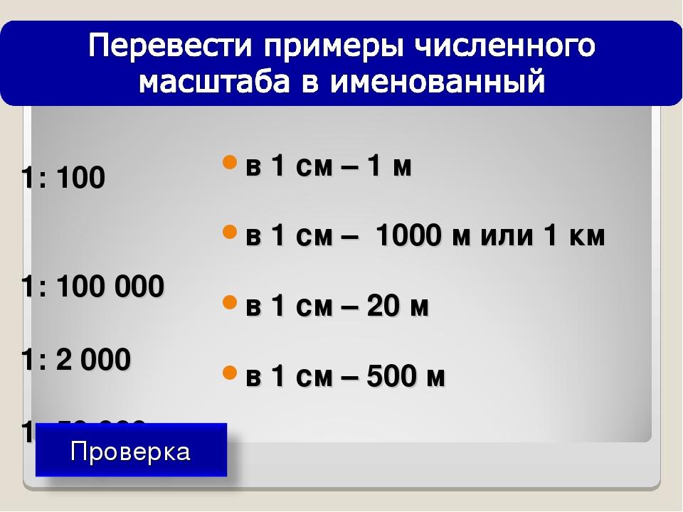 1: 100 1: 100 000 1: 2 000 1: 50 000 в 1 см – 1 м в 1 см – 1000 м или 1 км в...