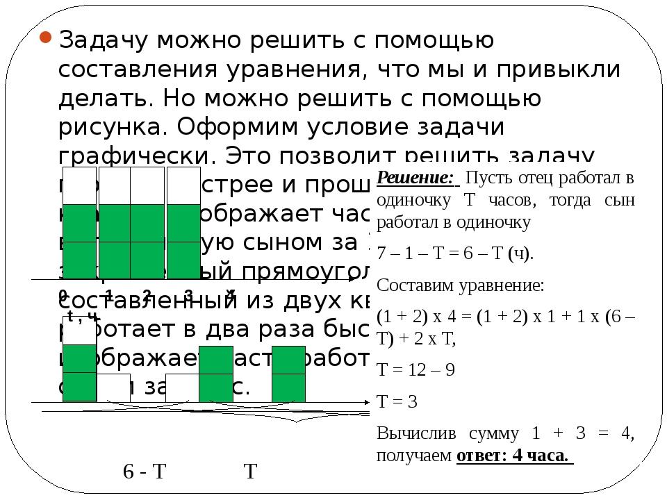 Задачу можно решить с помощью составления уравнения, что мы и привыкли делать...