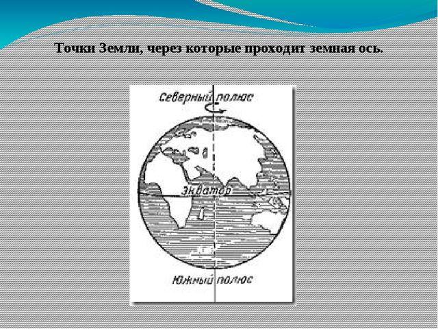 Точки Земли, через которые проходит земная ось.