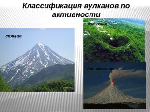 Классификация вулканов по активности действующие спящие потухшие