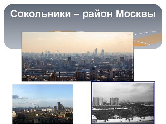 Сокольники – район Москвы