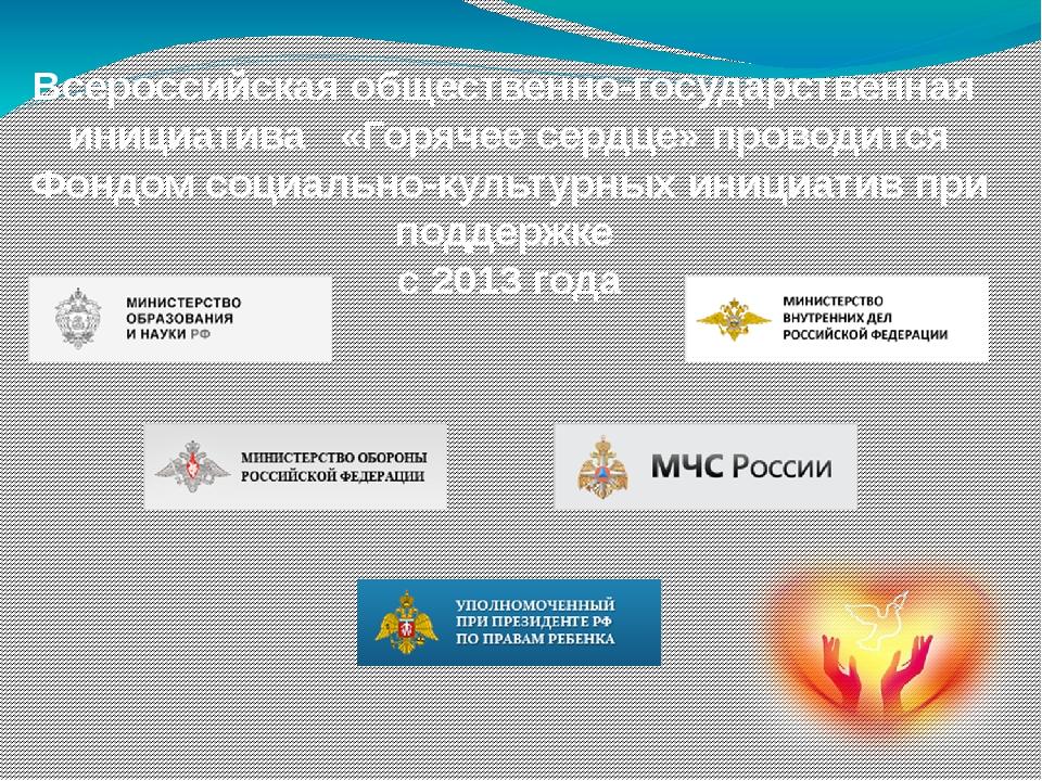 Всероссийская общественно-государственная инициатива «Горячее сердце» проводи...
