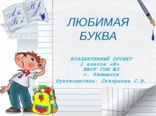 КОЛЛЕКТИВНЫЙ ПРОЕКТ 1 класса «В» МАОУ СОШ №3 г. Камышлов Руководитель: Скворц
