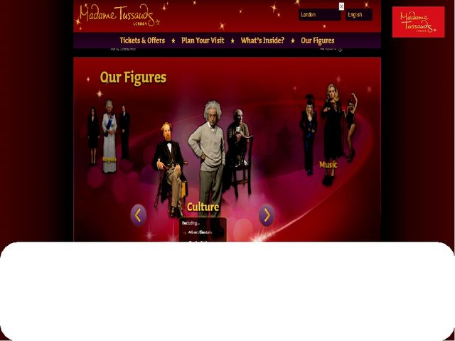 "And on the page ""Our Figures"" wax collections are shown."