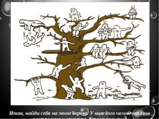 Итак, найди себя на этом дереве. У каждого человечка свое настроение и заняти