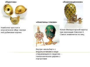 «Курочка» Наиболее простое и классическое яйцо: внутри неё рубиновая корона «