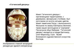 «Гатчинский дворец» Изображение главной загородной резиденции вдовой императр
