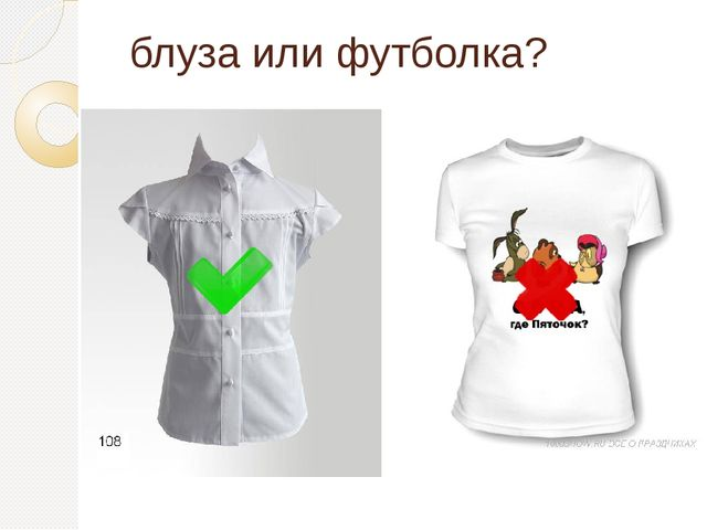 блуза или футболка?