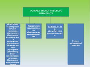 ОСНОВА ЭКОЛОГИЧЕСКОГО ЛАБИРИНТА Основная общеобразовательная программа дошкол