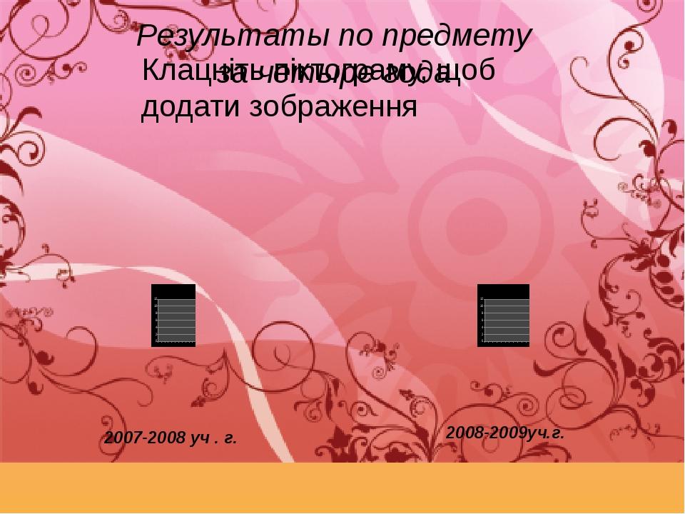 Результаты по предмету за четыре года 2007-2008 уч . г. 2008-2009уч.г.