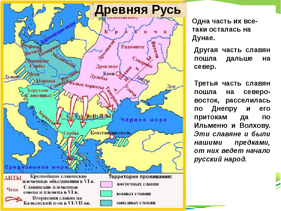 Одна часть их все-таки осталась на Дунае. Другая часть славян пошла дальше на...