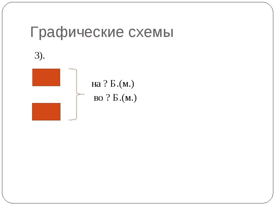 Графические схемы 3). на ? Б.(м.) во ? Б.(м.)