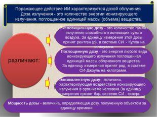 Поглощенную дозу - это энергия любого вида ионизирующего излучения поглощенна