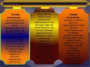 Характеристики ионизирующих излучений Гамма-излучение, или кванты энергии (фо