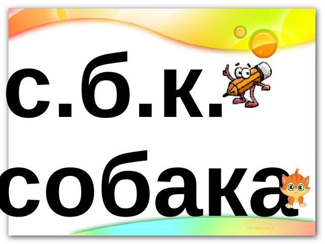 с.б.к. собака