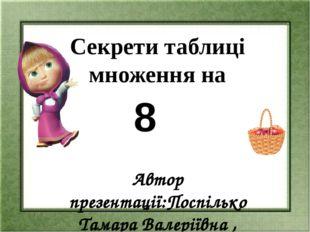 Прочитай таблицю множення на 8. Запиши добутки, які ти вже знаєш з таблиць мн