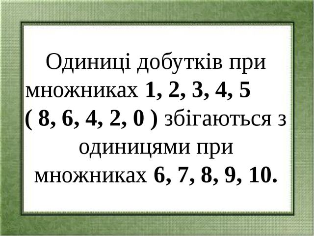8 х 1 = 8 8х6=48 8 х 2 = 16 8х7=56 8 х 3 = 24 8х8=64 8 х 5 = 40 8х10=80 8 х...