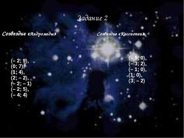 Задание 2 Созвездие «Андромеды» Созвездие «Кассиопеи»