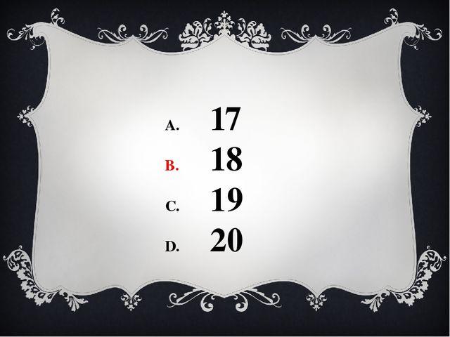 17 18 19 20