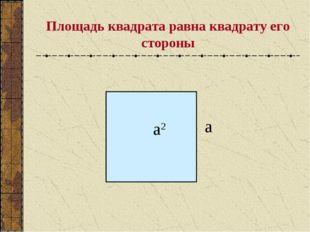 Площадь квадрата равна квадрату его стороны