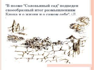 """""""В поэме """"Соловьиный сад"""" подведен своеобразный итог размышлениям Блока и о ж"""