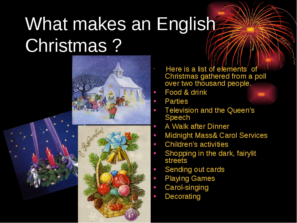 What makes an English Christmas ? Here is a list of elements of Christmas gat...