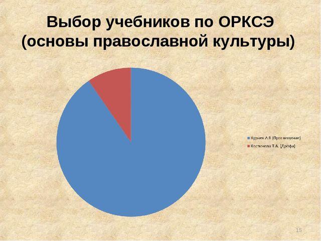 Выбор учебников по ОРКСЭ (основы православной культуры) *